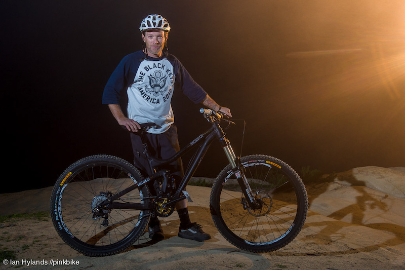 Carter Holland poses with his Black Market Roam bicycle