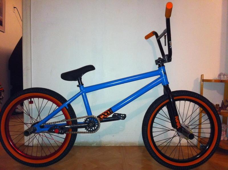 heres my bikee ! all fresh stuff for 2013 , fliped stem and put seat lil higher . wondering if i should buy some we the people forks ?? comment tell me what you think about it