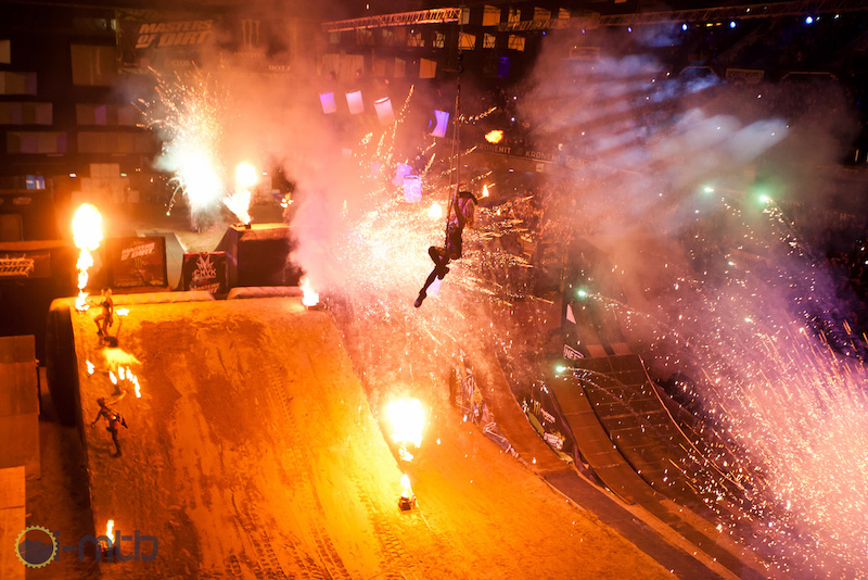 The opening is always spectacular with explosions fireworks and bikes jumping in all directions.