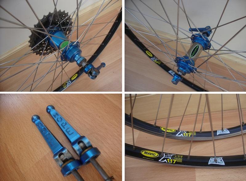 Retro Titanium Hope Wheels Mavic rims