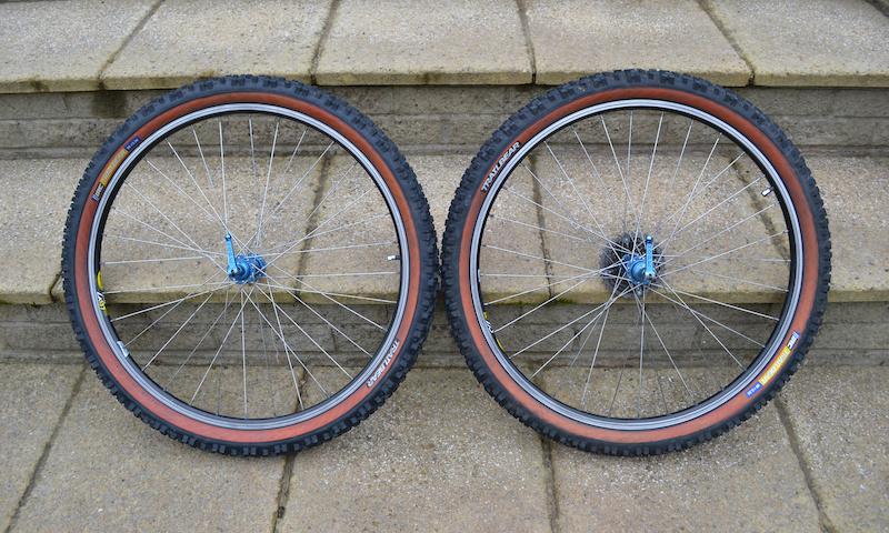 Retro Titanium Hope Wheels Mavic rims and IRC tyres