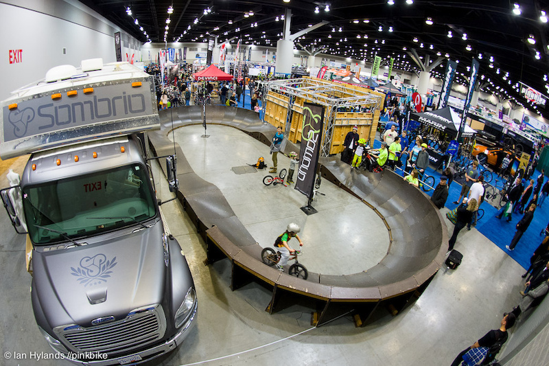 Sombrio was at the event with their rig and pumptrack definitely a popular spot for the kids.