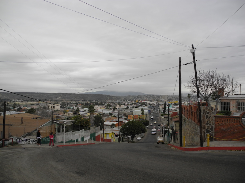 Tijuana looking east to the border
