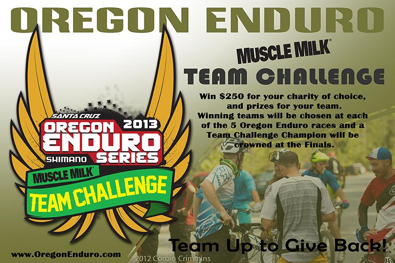 Oregon Enduro Muscle Milk Team Challenge Banner