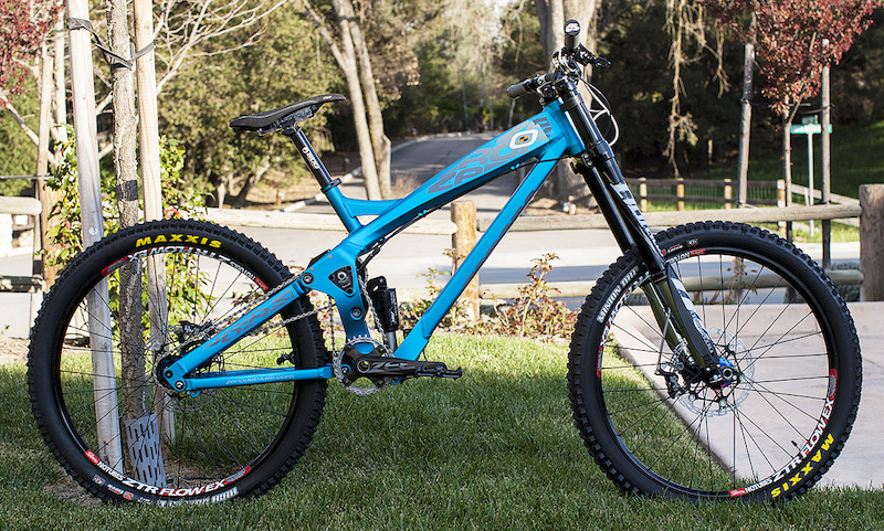 Zerode G2 custom Blue with Race Build on it