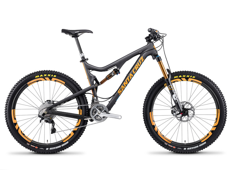 Black Bronson C with orange decal kit Enve XXI build