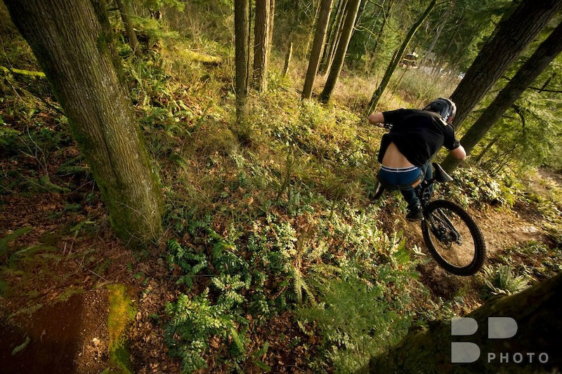 Dustin moto whipping thru the forest