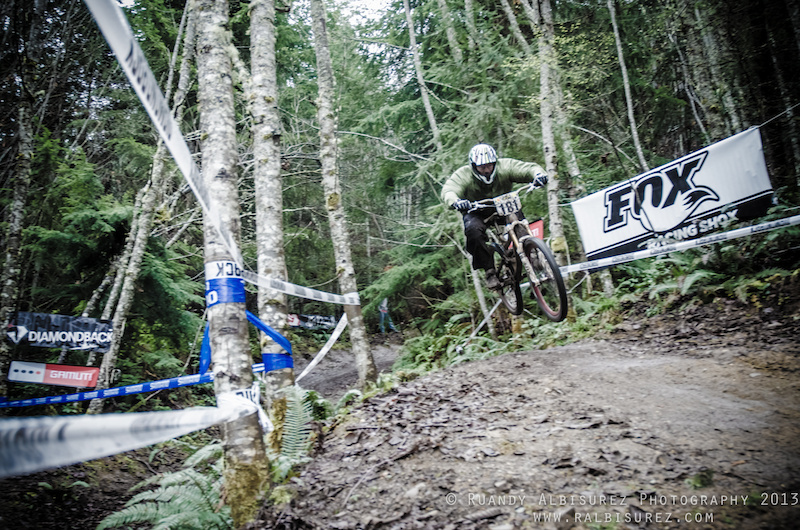 Spanking he competition in his first DH race ever