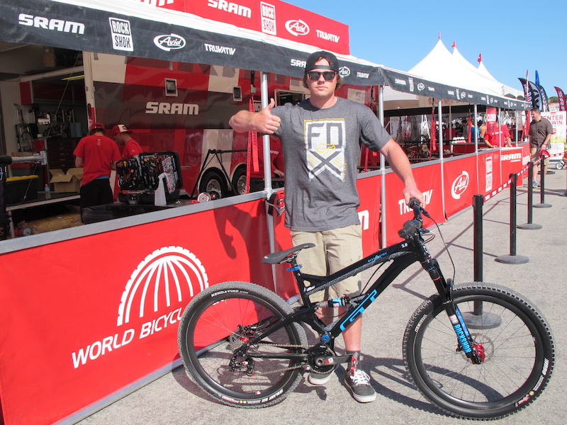 Kyle reporting for duty and eager to defend his Dual Slalom title - Sea Otter Classic Day 1