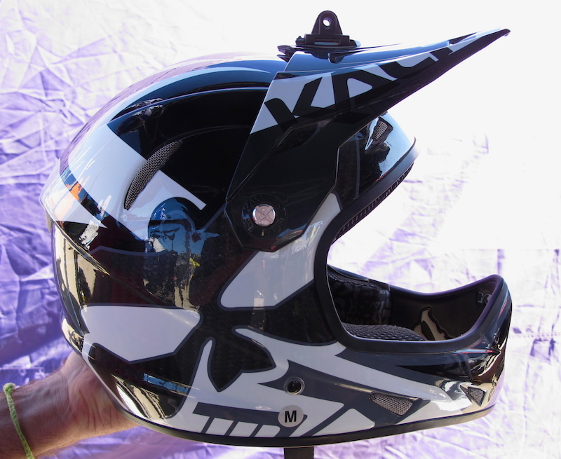 Kali s Avatar II helmet with accessory mount.
