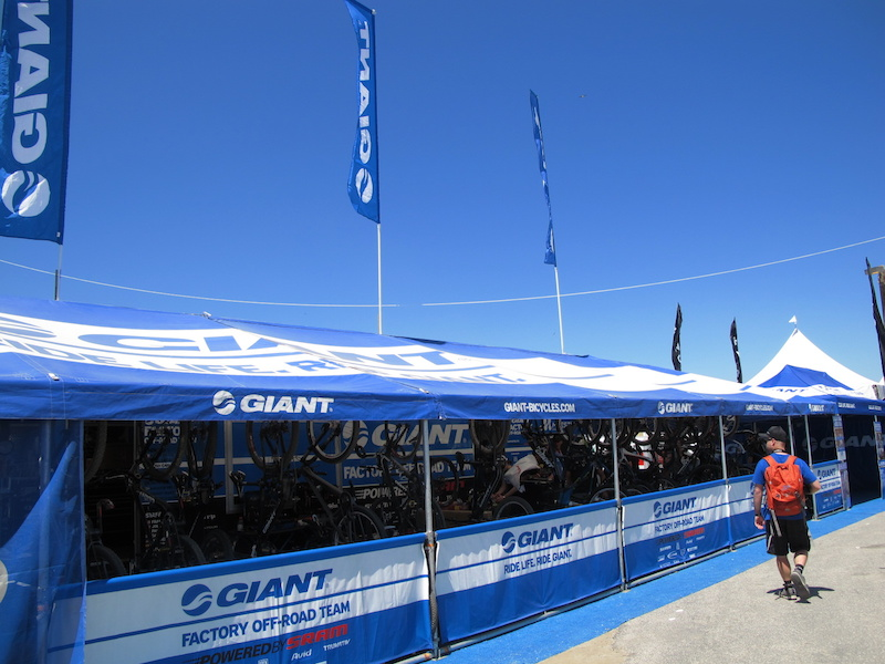 Giant was on hand to take care of all their racers this weekend and show off some of their latest bikes.