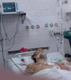 In Hospital after his crash