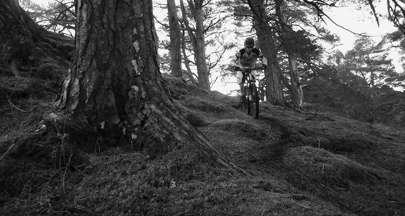 Self Portrait out in the hills of Scotland.