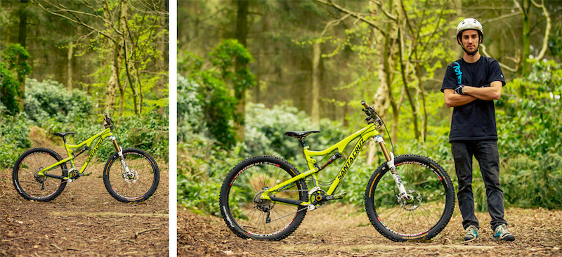 Neil Donoghue giving the new Santa Cruz Bronson C 650B a thrashing in the woods - Laurence CE - www.laurence-ce.com