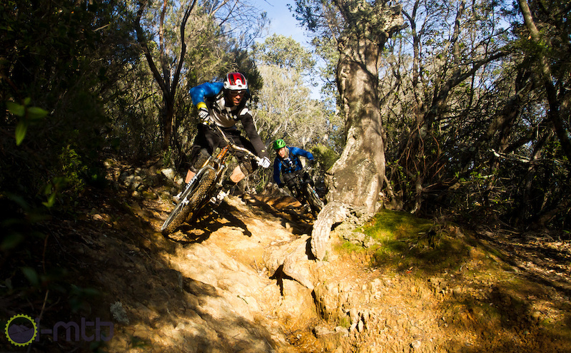 Fabien Barel has already ridden some of the trails here he was riding PS 3 except he didnt know it was a race stage at the time.