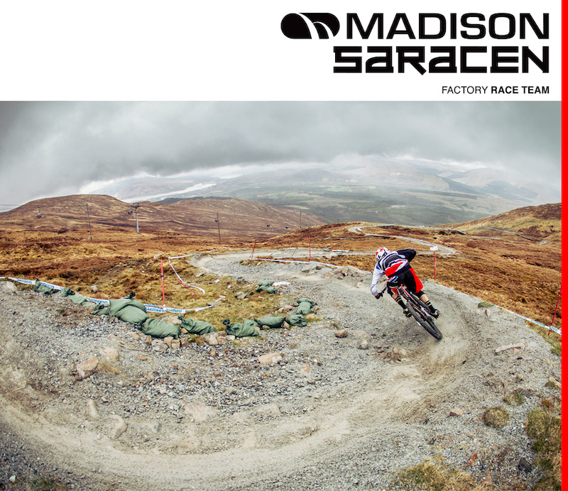 Madison Saracan Dampening Saracen British Downhill Series TWO - Fort William Nevis Range Scotland - Find the article on Pinkbike.com - Laurence CE - www.laurence-ce.com