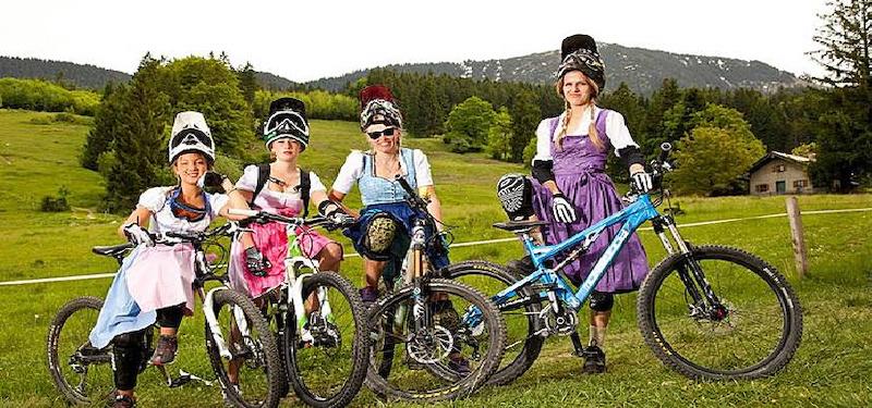 Bavarian Girls Do Downhill At Samer Mountain Bike Park Samerberg