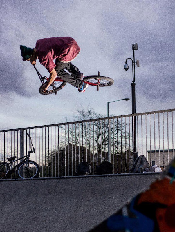 Hooked up local rider james hes riding bmx for the right reasons