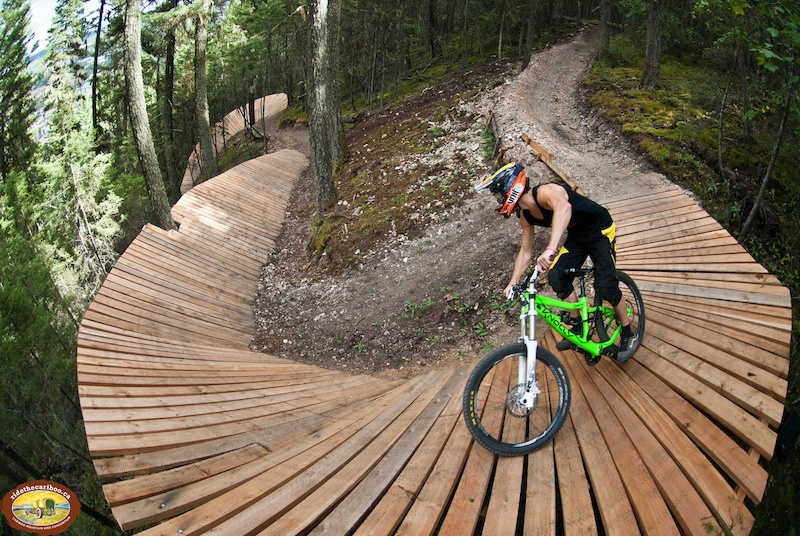 how to make a wooden mountain bike jump