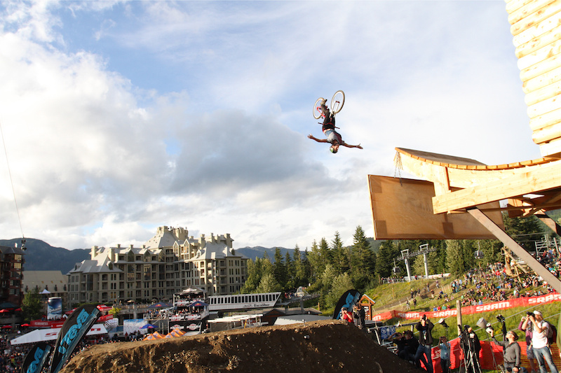 Sam Pilgrim lays out a perfect nohander backflip during Teva Best Trick