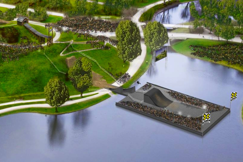 This maybe what the X-Games Slopestyle course will look like
