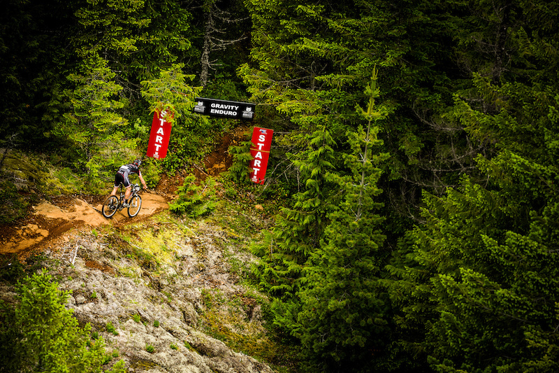 Cumberland Stage 1 Enduro Start from the top of Forbidden Plateau