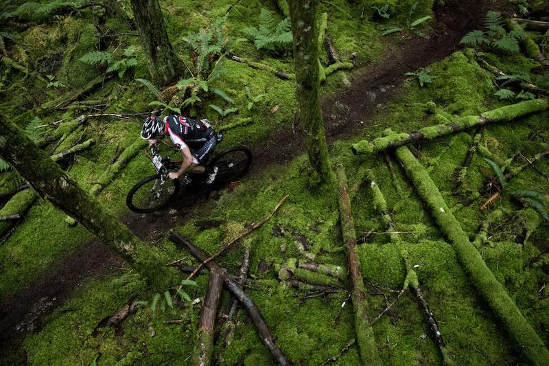Dark loamy trails greet riders daily.
