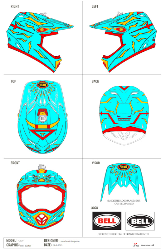 this is the final version of http www.pinkbike.com photo 9757145 Only i aint that pro with that program but any ways I hope you guys like it D. Colour change is possible. Its called the bell avatar because with this helmet you own all elements P sorry for my bad english