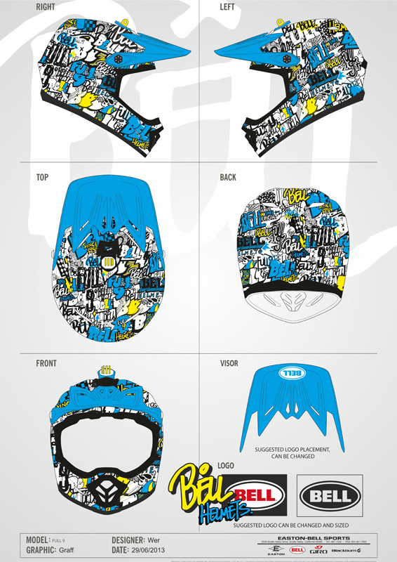 Bell Full 9 Graff Helmet. Full design in BELL folder...