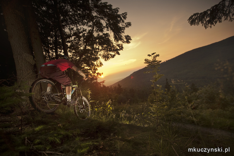Diamondback Europe rider Piotr Szwedowski during video shoot for Rockstar Energy Drink