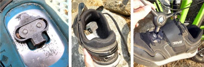 Teva Pivot shoe cleat attachment details