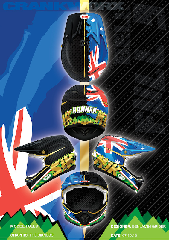 Half raw carbon - half Aussie flag and just a little bit o' bling for the king. The raw side is the sickness taking over. Go Mick...