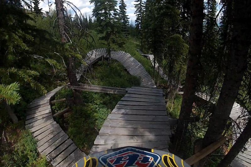 LYM trail at Kicking Horse Bike Park - Golden, BC.