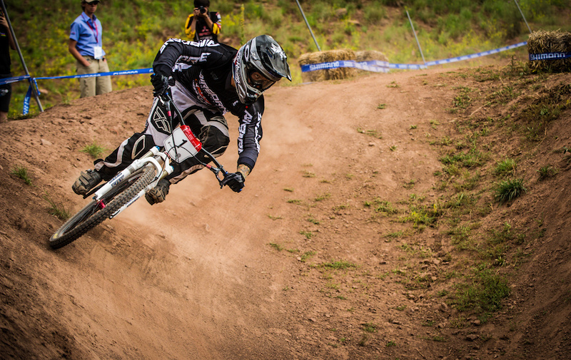 Fresh off BMX world Champs Nobles came out on a big bike and took the win in Dual.