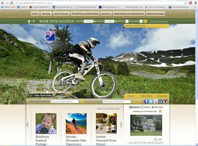 Alyeska Resort using a photo of Simon Evans that he took me riding. I m not receiving any money from this but a moment of fame.