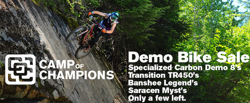 All our demo bikes are on sale now. Specialized Carbon Demo 8 s at prices that are the lowest anywhere.