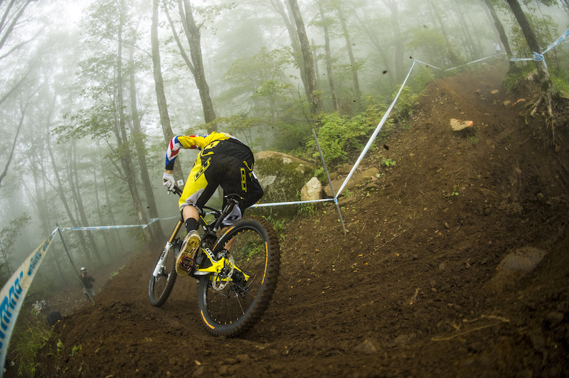 racing to qualify at the 2013 edition of the UCI MTB World Cup at Mt St Anne in Quebec Canada.