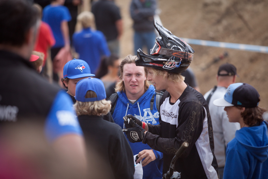 Judging by the way Logan Peat rode all weekend...he better get used to this kind of attention