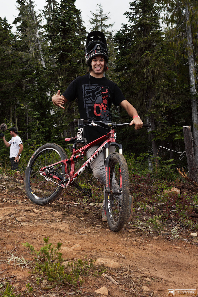 Paul Genovese hanging loose Specialized slope squisher.