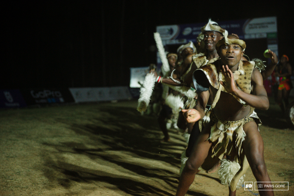 African dance show during the opening ceremony.