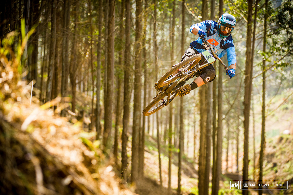 Richie Rude boosting one of the final jumps. This could be the weekend for the hard riding American junior. Richie Smash