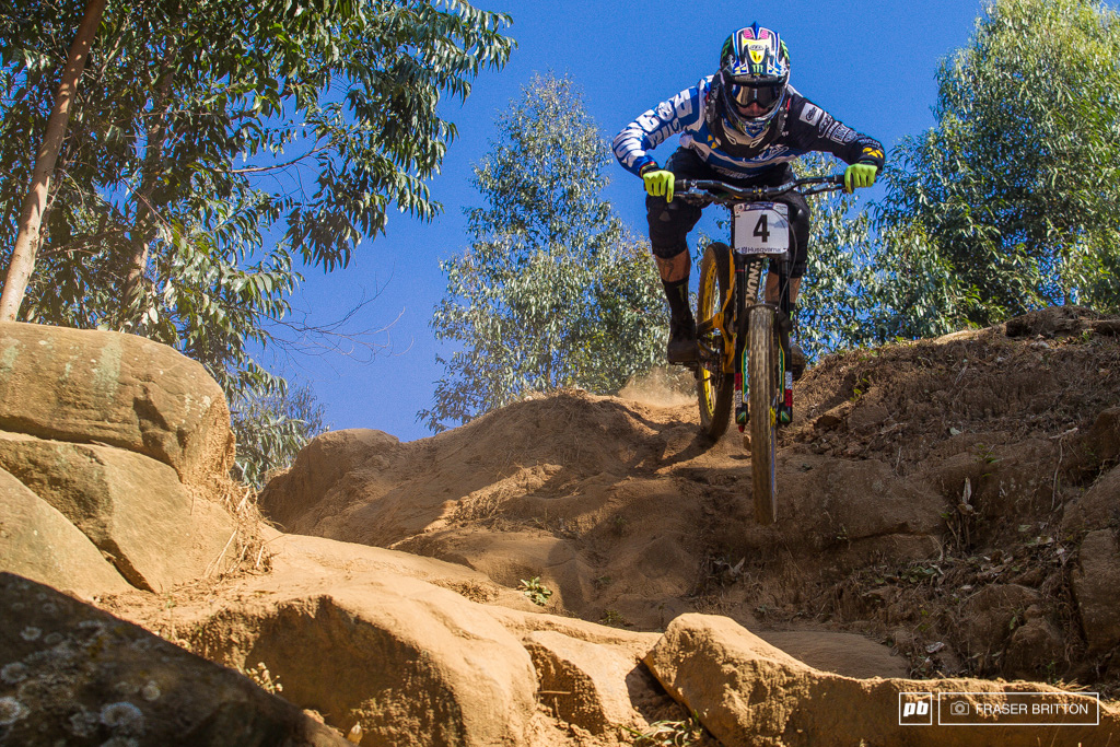 Sam Hill goes completely the opposite way to everyone else good to see Sam is keeping up his old habits
