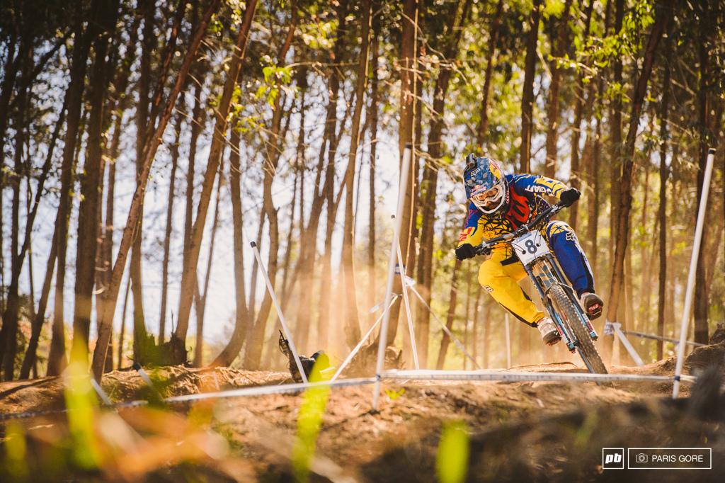 Early morning golden hour practice Marcelo full throttle.