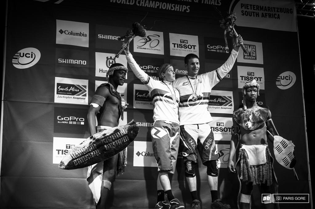 2013 World Champs Rachel Atherton and Greg Minnaar