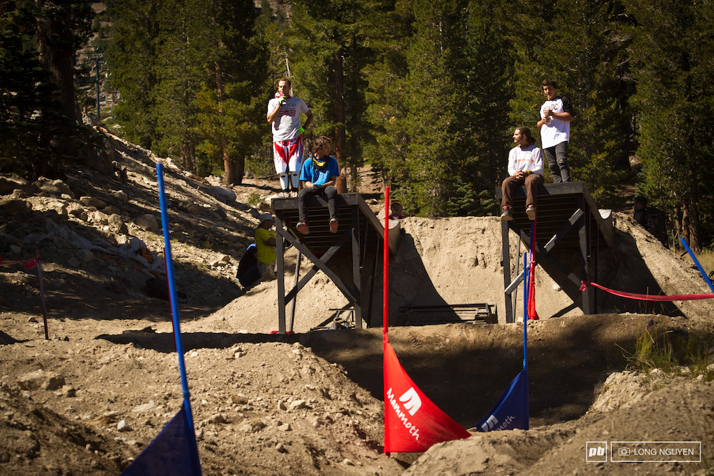 Riders getting ready for Speed amp Style Seeding.