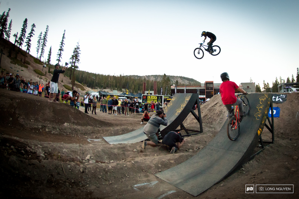 Greg Watt s with a 360 barspin on the last feature.