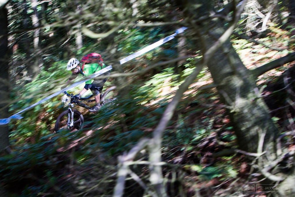 flying through the tighter wooded sections of stage 2. Tight twisty and short.