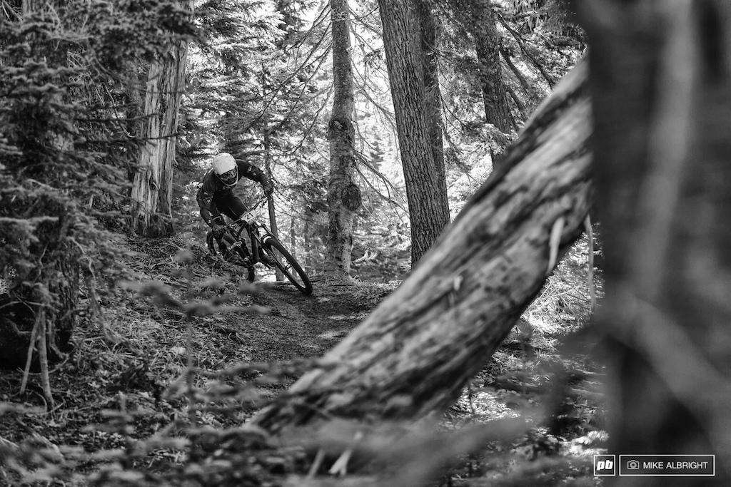 Jeremy Horgen-Kobelski starts stage 4 near Timberline Lodge.