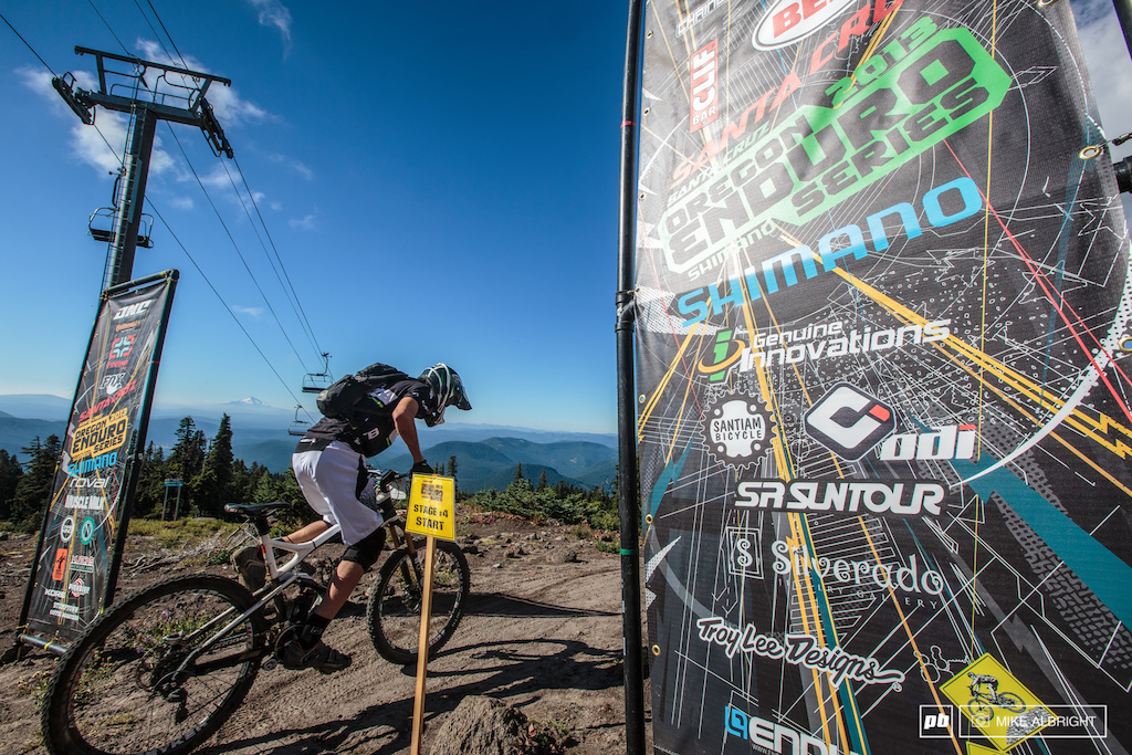 The start from stage 4 next to Timberline Lodge on Mt. Hood. Could be a worse...