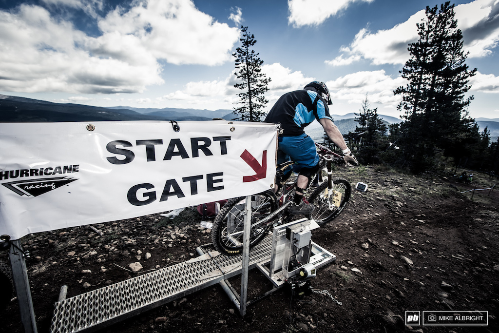 Starting gate at the top of Ski Bowl.